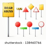 set of road signs eps10 vector... | Shutterstock .eps vector #138460766