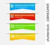 gradient infographics banners.... | Shutterstock .eps vector #1384613405