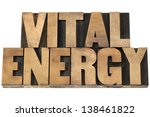 vital energy   isolated text in ... | Shutterstock . vector #138461822