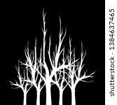 white dead trees on black...   Shutterstock .eps vector #1384637465