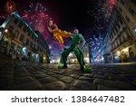 Night Street Circus Performance ...