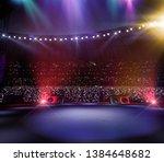 empty main stage big music... | Shutterstock . vector #1384648682