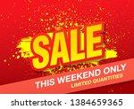 sale banner layout design ... | Shutterstock .eps vector #1384659365