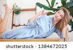 soft studio portrait of a...   Shutterstock . vector #1384672025
