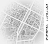 abstract city map. print with... | Shutterstock .eps vector #1384672235