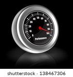 3d illustration of performance...   Shutterstock . vector #138467306