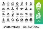 smart city icon set with... | Shutterstock .eps vector #1384690052