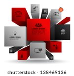 vector cube box for business...