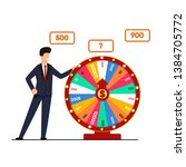 lottery with wheel fortune... | Shutterstock .eps vector #1384705772