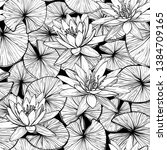 seamless pattern with water... | Shutterstock .eps vector #1384709165