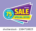 sale special offer   concept... | Shutterstock .eps vector #1384718825