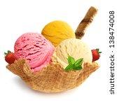 ice cream scoops   ice cream in ... | Shutterstock . vector #138474008