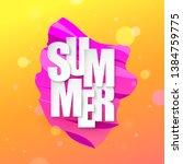 summer abstract gradient... | Shutterstock .eps vector #1384759775