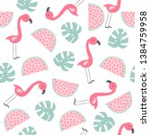summer seamless pattern with... | Shutterstock .eps vector #1384759958