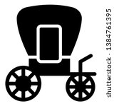 carriage isolated vector icon... | Shutterstock .eps vector #1384761395