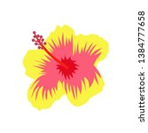 Exotic Summer Flower Vector...