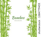 green bamboo stems with green...   Shutterstock .eps vector #1384779455