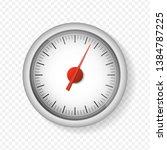 realistic white speedometer... | Shutterstock .eps vector #1384787225