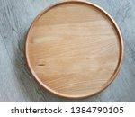 Small photo of Circle beach wood skulk background