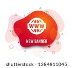 fluid badge. www sign icon.... | Shutterstock .eps vector #1384811045