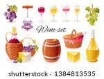 wine making icon set with... | Shutterstock .eps vector #1384813535