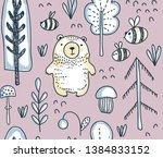 vector seamless pattern with... | Shutterstock .eps vector #1384833152