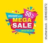 mega sale   concept promotion... | Shutterstock .eps vector #1384833872