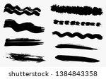 grunge dry paint brush strokes  ...   Shutterstock .eps vector #1384843358