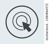 cursor icon silver in circle .... | Shutterstock .eps vector #1384866572