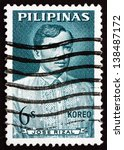 Small photo of PHILIPPINES - CIRCA 1964: a stamp printed in Philippines shows Jose Rizal, Portrait, National Hero, Nationalist and Reformist, circa 1964