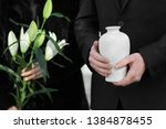 Couple With Mortuary Urn And...