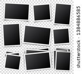 photo card frame film set.... | Shutterstock .eps vector #1384886585