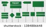 road green traffic signs set.... | Shutterstock .eps vector #1384886648