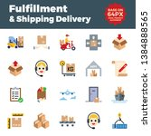 fulfillment and shipping... | Shutterstock .eps vector #1384888565