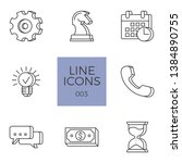 business icons set. business... | Shutterstock . vector #1384890755