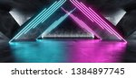 vibrant triangle neon... | Shutterstock . vector #1384897745