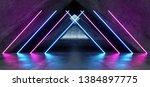vibrant triangle neon... | Shutterstock . vector #1384897775