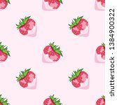 seamless summer pattern of ripe ... | Shutterstock .eps vector #1384900322