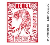 rebel legacy tiger graphic print | Shutterstock .eps vector #1384901102