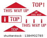 this way up  top  handle with...   Shutterstock .eps vector #1384902785