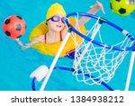 swimming pool fun time.... | Shutterstock . vector #1384938212