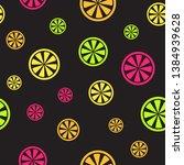 citrus pattern. seamless vector ...   Shutterstock .eps vector #1384939628