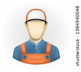 human template mechanic with no ... | Shutterstock .eps vector #1384940048