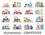 factory industry manufactory... | Shutterstock .eps vector #1384955555