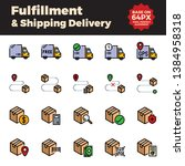 fulfillment and shipping... | Shutterstock .eps vector #1384958318