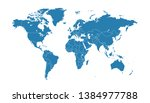 color world map vector modern | Shutterstock .eps vector #1384977788