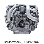 modern car engine isolated on... | Shutterstock . vector #138498002