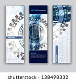 vector banners. set of three.... | Shutterstock .eps vector #138498332