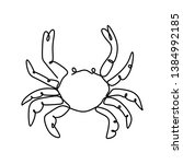 Crab One Line Drawing...