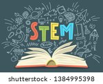 stem. science  technology ... | Shutterstock .eps vector #1384995398